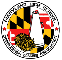 Logo of the Maryland High School Cheerleading Association